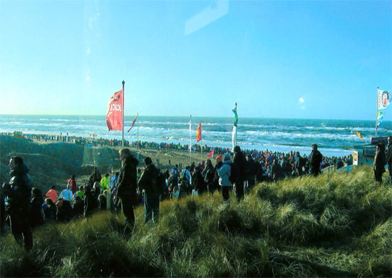 Halbmarathon in Egmond mit Vitargo - Impressionen / Eindrücke - Strand