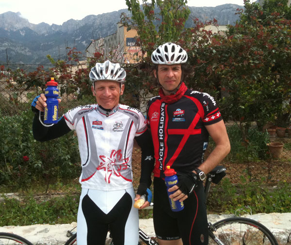 Vitargo Sportler im Trainingscamp 2010 - Hartmut und Patric