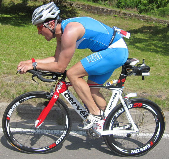 Jörg Panter testet Gel in Mussbach - Triathlon