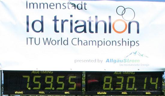 Triathlon WM Immenstadt mit Vitargo Sportlern Patric Bialas und Hartmut Andres mit Gel und Professional erfolgreich