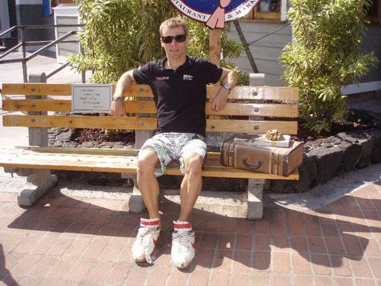 Stefan Schmid Vitargo Sportler beim Ironman Hawaii 2010