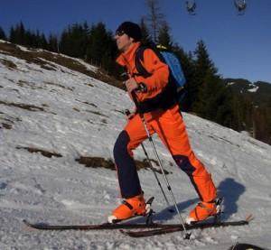 Tino Kässner in der Saisonvorbereitung im Schnee
