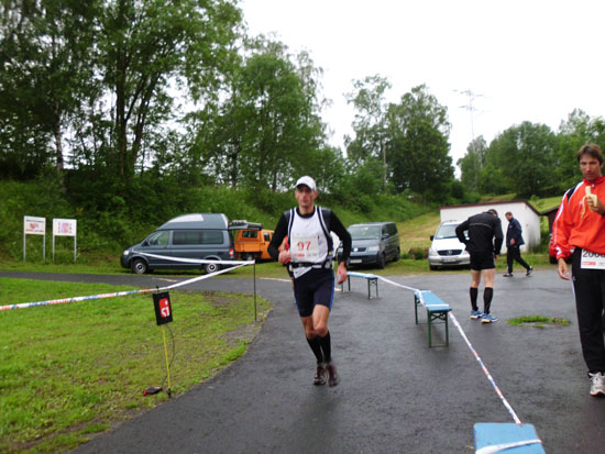 Holger Deifuß vom Team Vitargo beim Ultra Lauf in Thüringen über 100KM