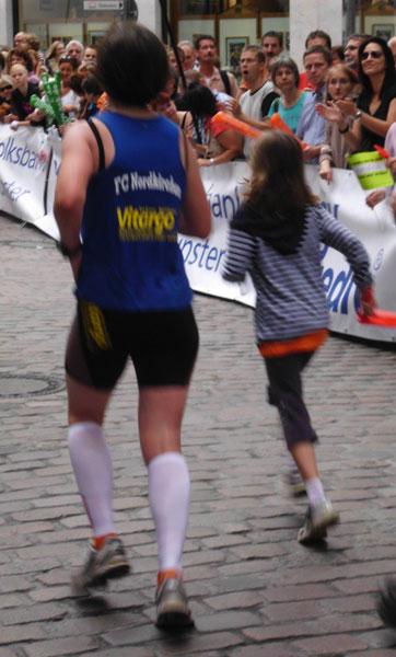 Christine Jücker Deifuß vom Team Vitargo beim Münster Marathon 2011