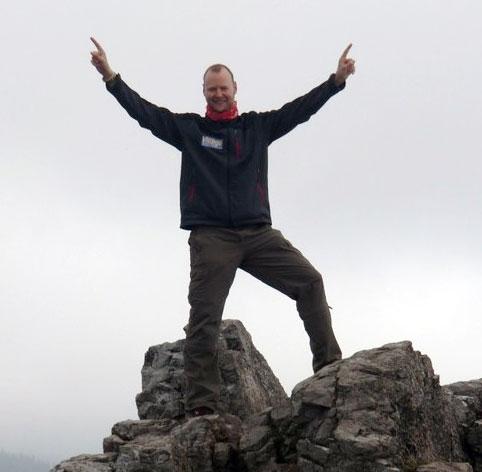Martin Jansen mit Vitargo in der Hohen Tatra
