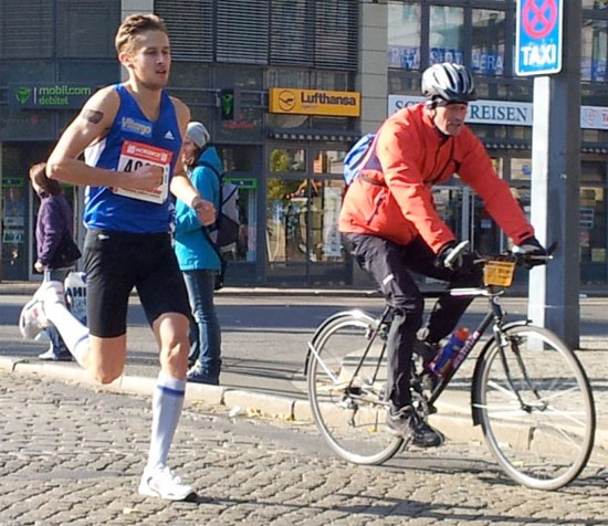 Vitargo Sportler Paul Schmidt 2. Platz beim Dresden Marathon