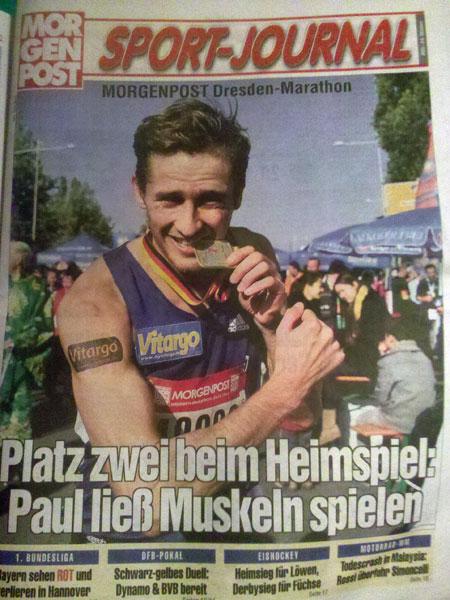 Vitargosportler Paul Schmidt erfolgreich beim Dresden Marathon