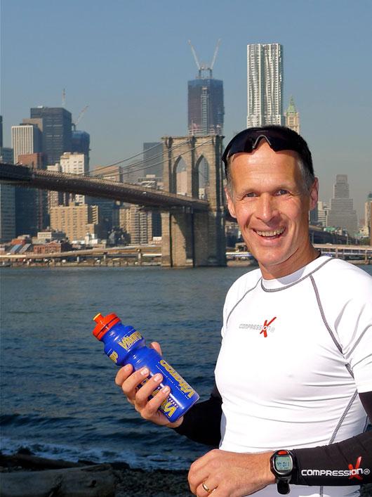 Rainer Lilischkes mit Vitargo beim New York Marathon 2011