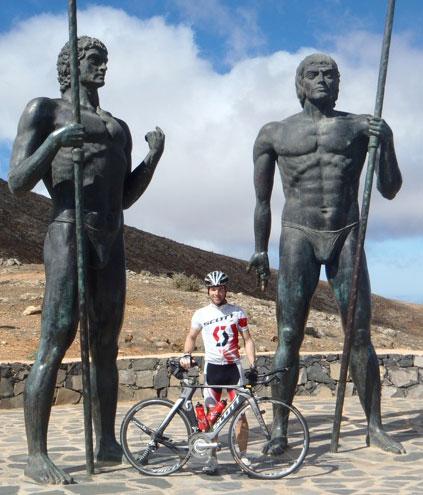Vitargo Sportler Stefan Schmid im Trainingslager auf Fuerteventura
