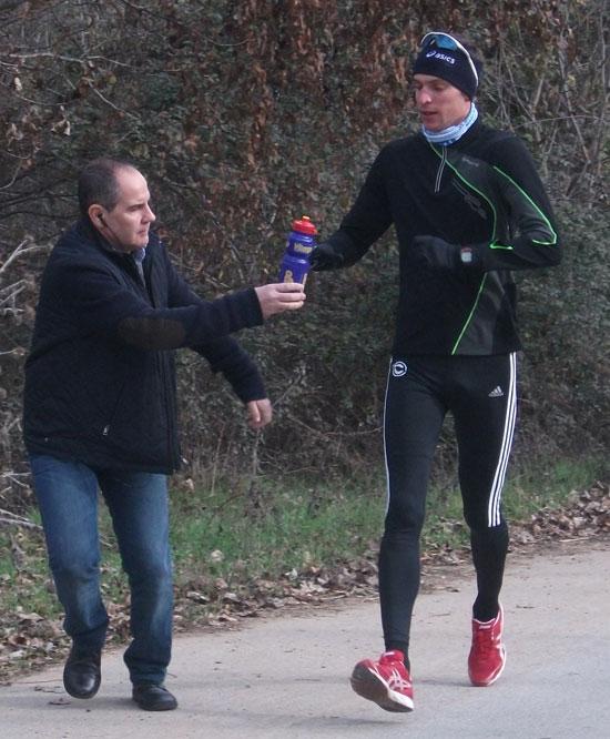 Maik Berger mit Vitargo im Trainingslager