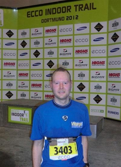 Vitargo Sportler Martin Jansen beim Indoor Trail 2012 in der Westfallenhalle