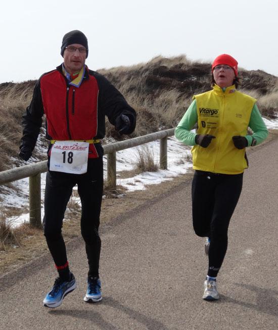 Christine und Holger mit Vitargo beim Syltlauf