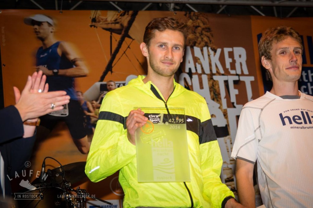 Paul Schmid gewinnt den 12. Rostock Marathon