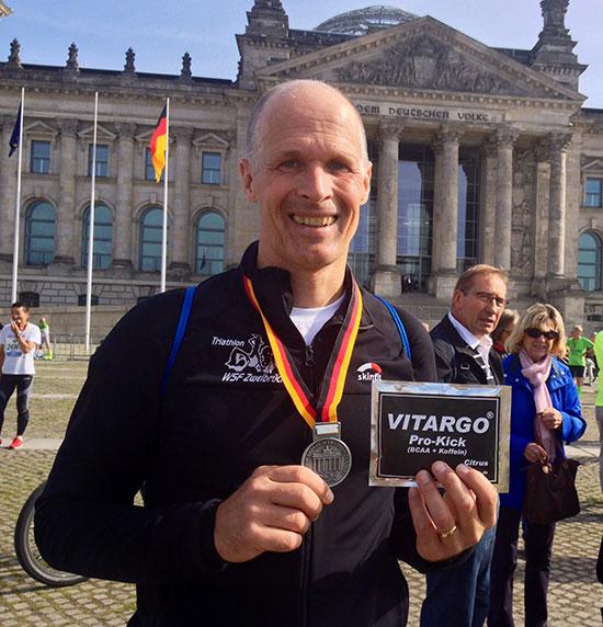 Rainer Lilischkes beim Berlin Marathon 2014 mit Vitargo Pro Kick