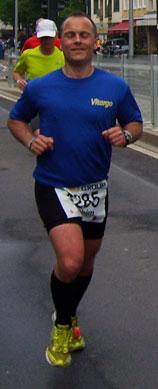 Joachim Krause beim Duesseldorf Marathon