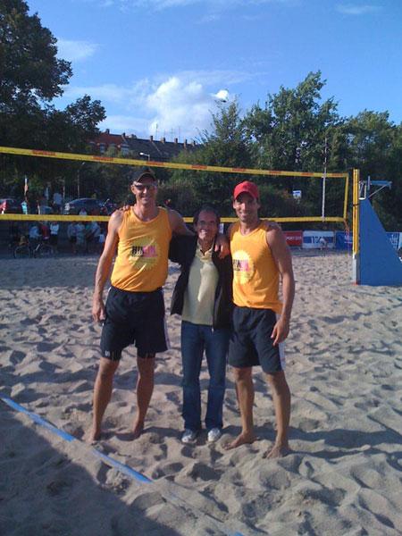Martin Peiske, Mihail Dorus und Sandro Ruviaro