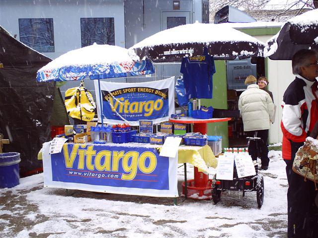 Schnee am Vitargo Stand
