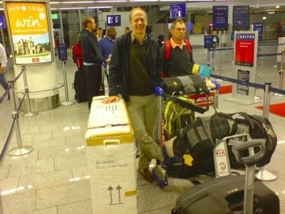 Rainer Lilischkes mit Vitargo nach Hawaii zum Ironman 2008 - Die Anreise