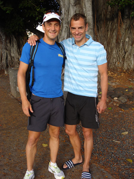 Ironman Hawaii 2009 - Andreas Niedrig und Jörg Panter Benefizaktion für Suchtkranke Caritas