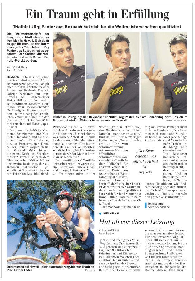 Artikel Saarbrücker Zeitung