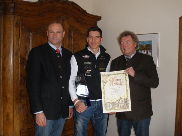 Tino Kässner Sportler des Jahres 2009 inMurnau - Ehrung mit den Oberbürgermeister