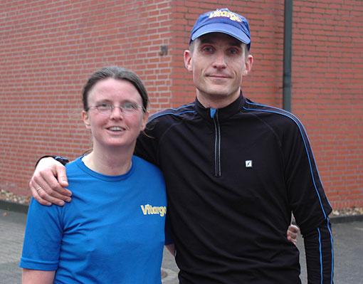 Christine und Holger mit Bestleistungen beim Münster Marathon 2008