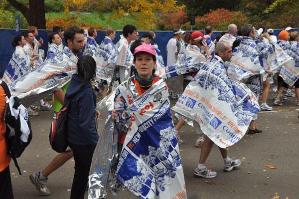 Birgit Pohlmann beim News York Marathon 2009