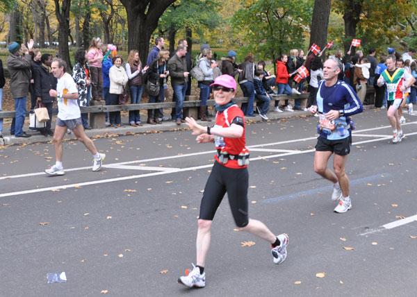 Birgit Pohlmann beim New York Marathon 2009