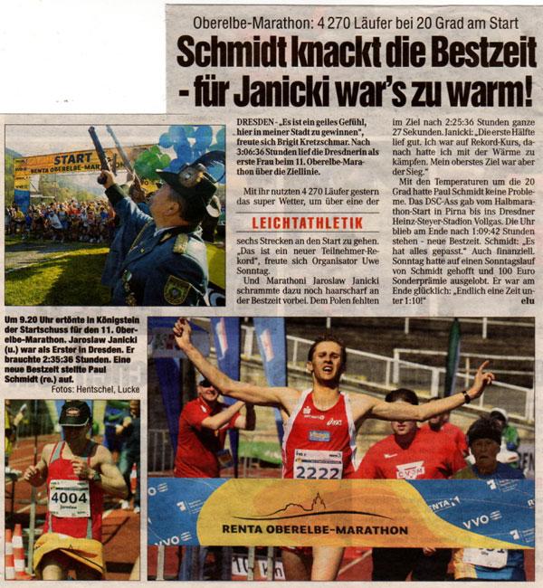 Halbmarathon-Streckenrekord beim Oberelbemarathon