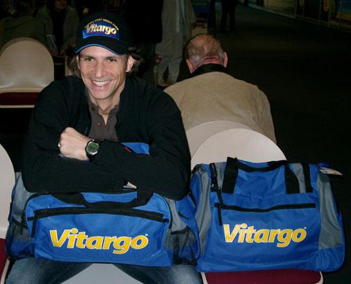 Patric Bialias mit der Vorfreude ins Camp fliegen zu können!