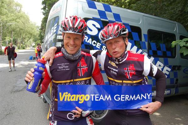 Happy und Glücklich Georg Hüging und Mathias Schöpfer-Droop vom Vitargo Team Germany