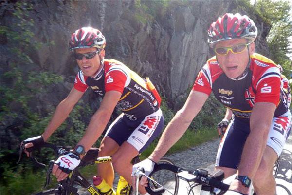 Auf der Strecke Trondheim-Oslo Vitargo Team Germany