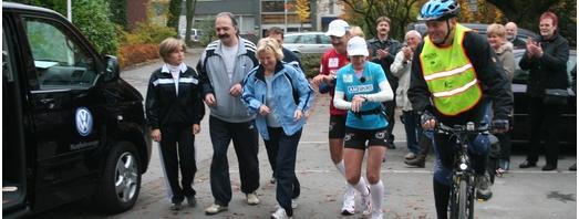 Thomas Wenning und Claudia Weber beim Start