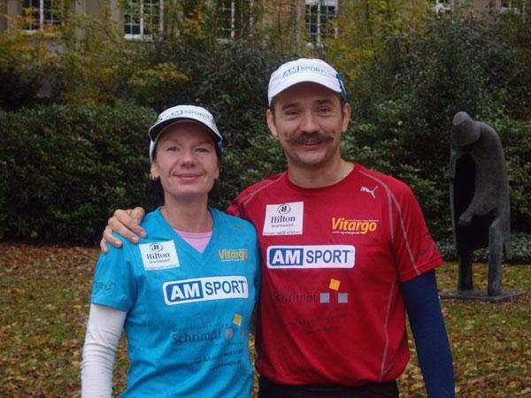 Claudia Weber und Thomas Weninng im Ziel