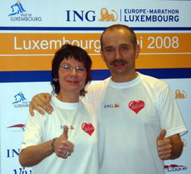 Thomas Wenning und Claudia Weber bei der Pressekonferenz zum Cross Luxemburg